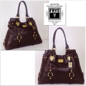 Frye Studded Melissa Oxblood Leather Shoulder Bag